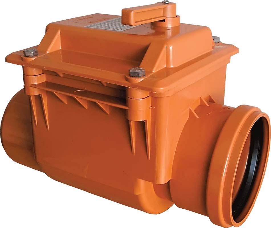 Двухсекторный обратный клапан для канализации