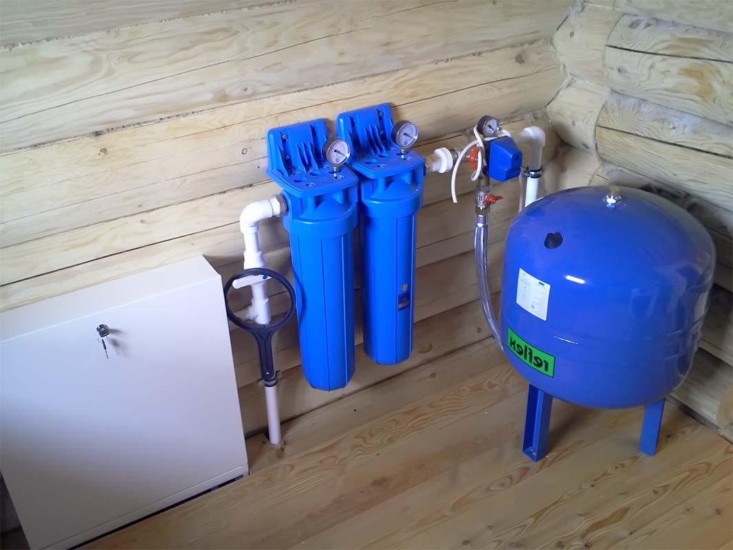 Фильтр для насосной станции синий цвет