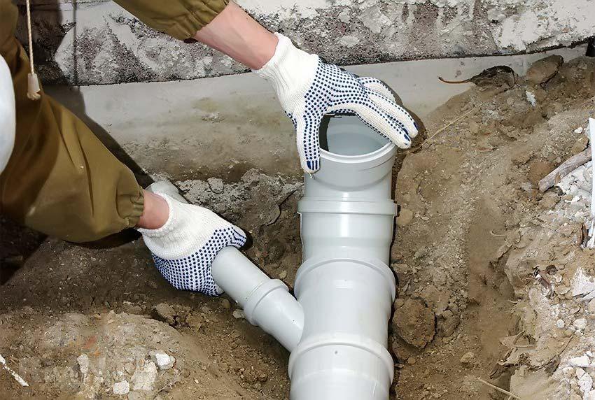 Монтаж труб для канализации самостоятельно