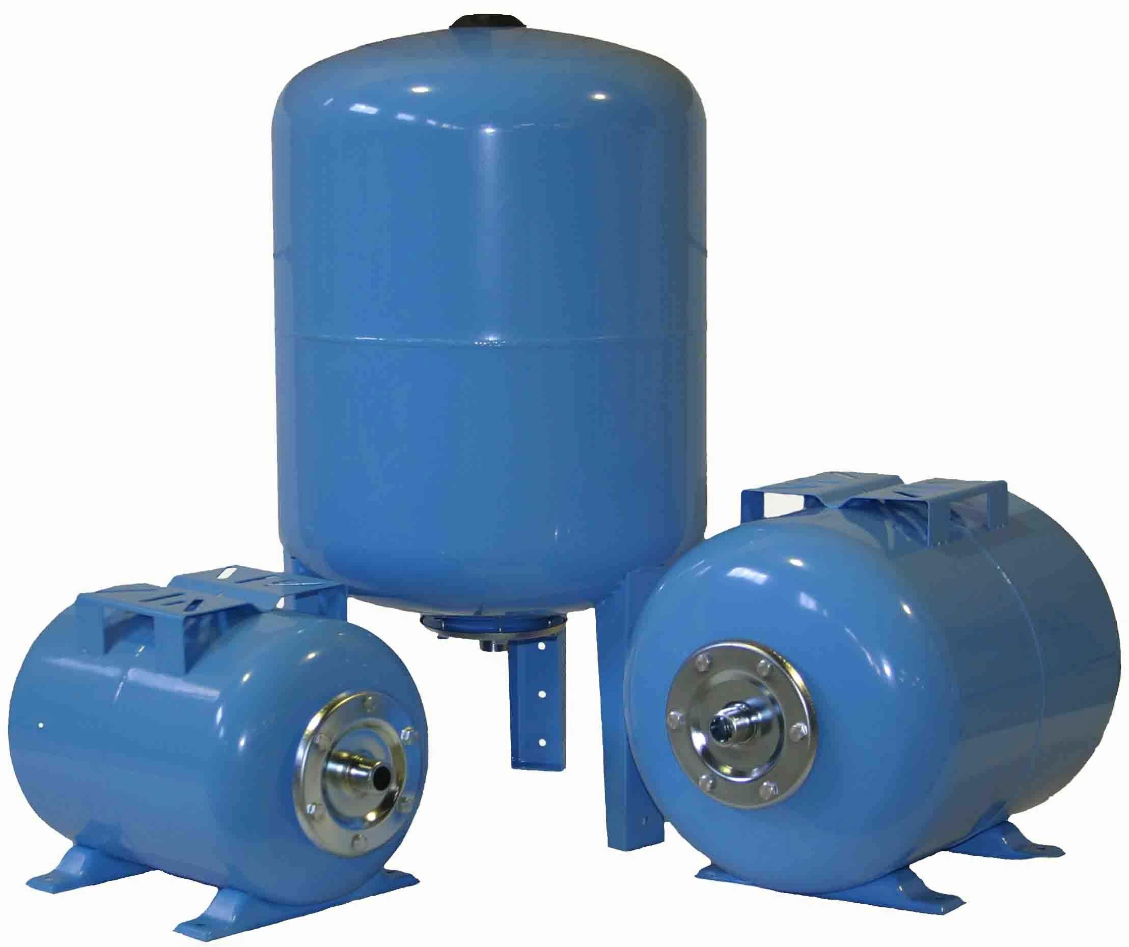 Три насосные станции синего цвета