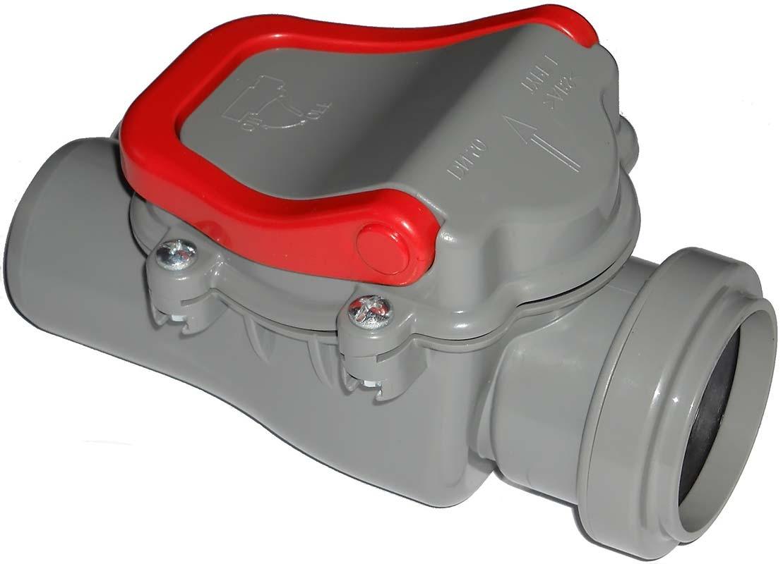 Обратный клапан для канализации серый