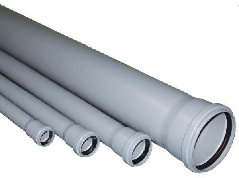 Серые трубы ПВХ для внутренней канализации