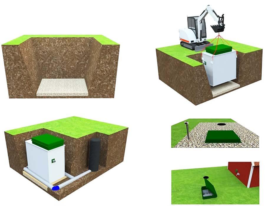 Автономная канализация Топас легкость установки