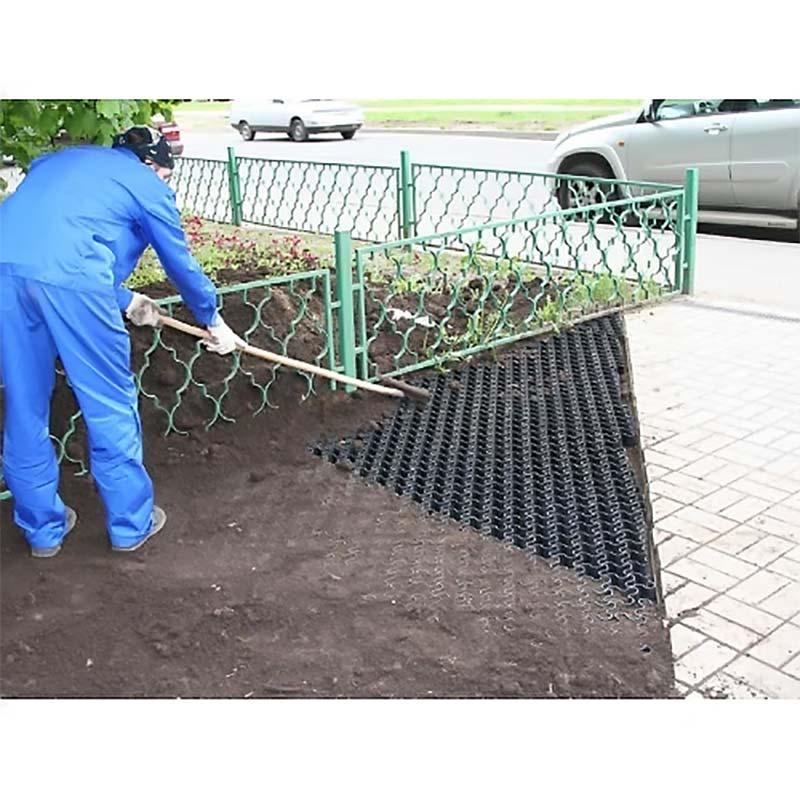 Монтаж газонных решеток