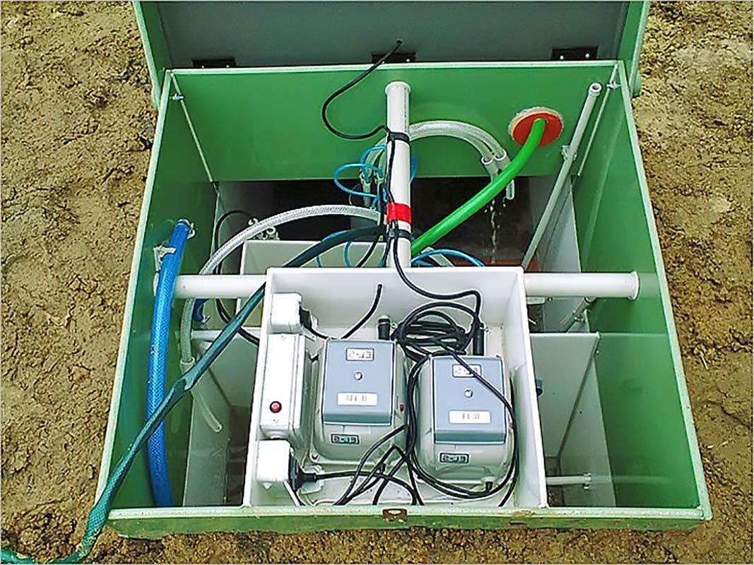 Монтаж компрессора для септика