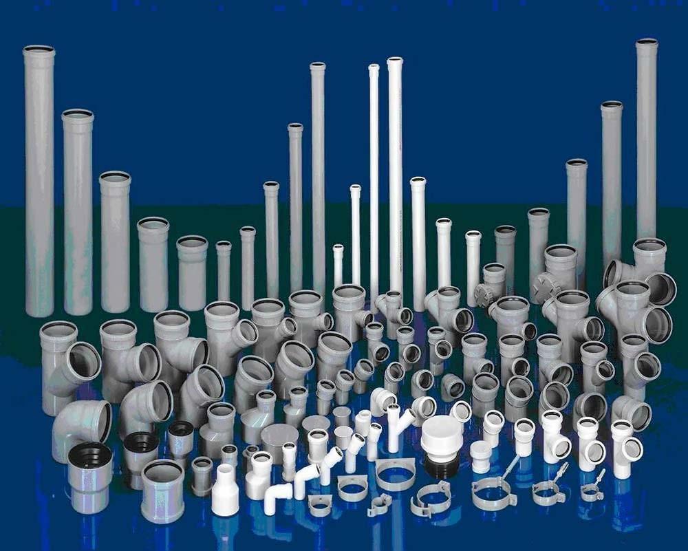 Пластиковые трубы произведенные по инструкции