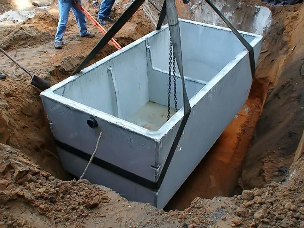 Септик для дачи бетонный