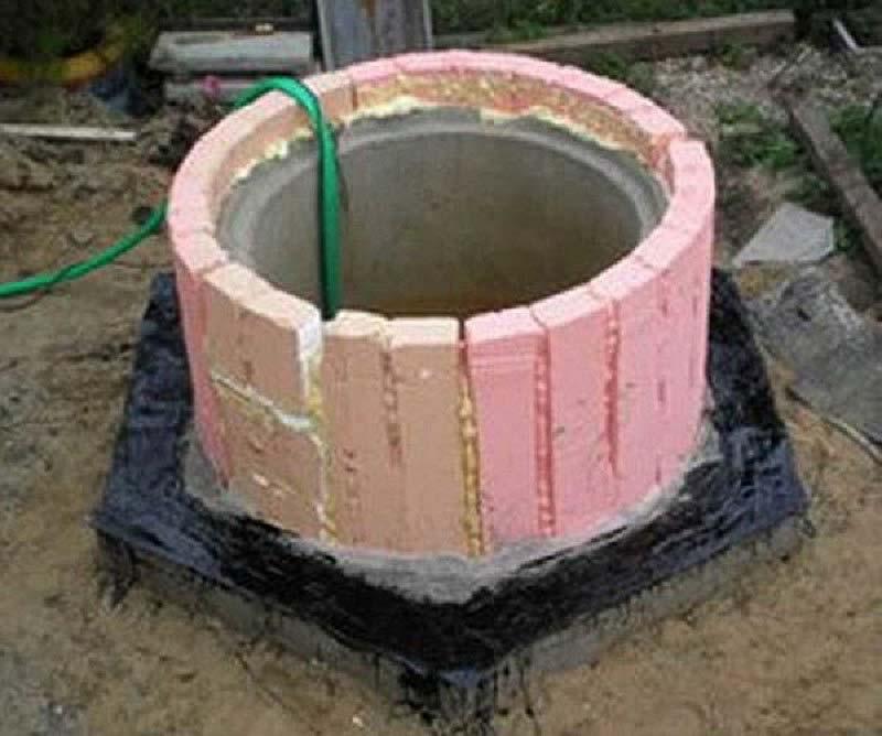 Септик из бетонных колец на болотистой почве