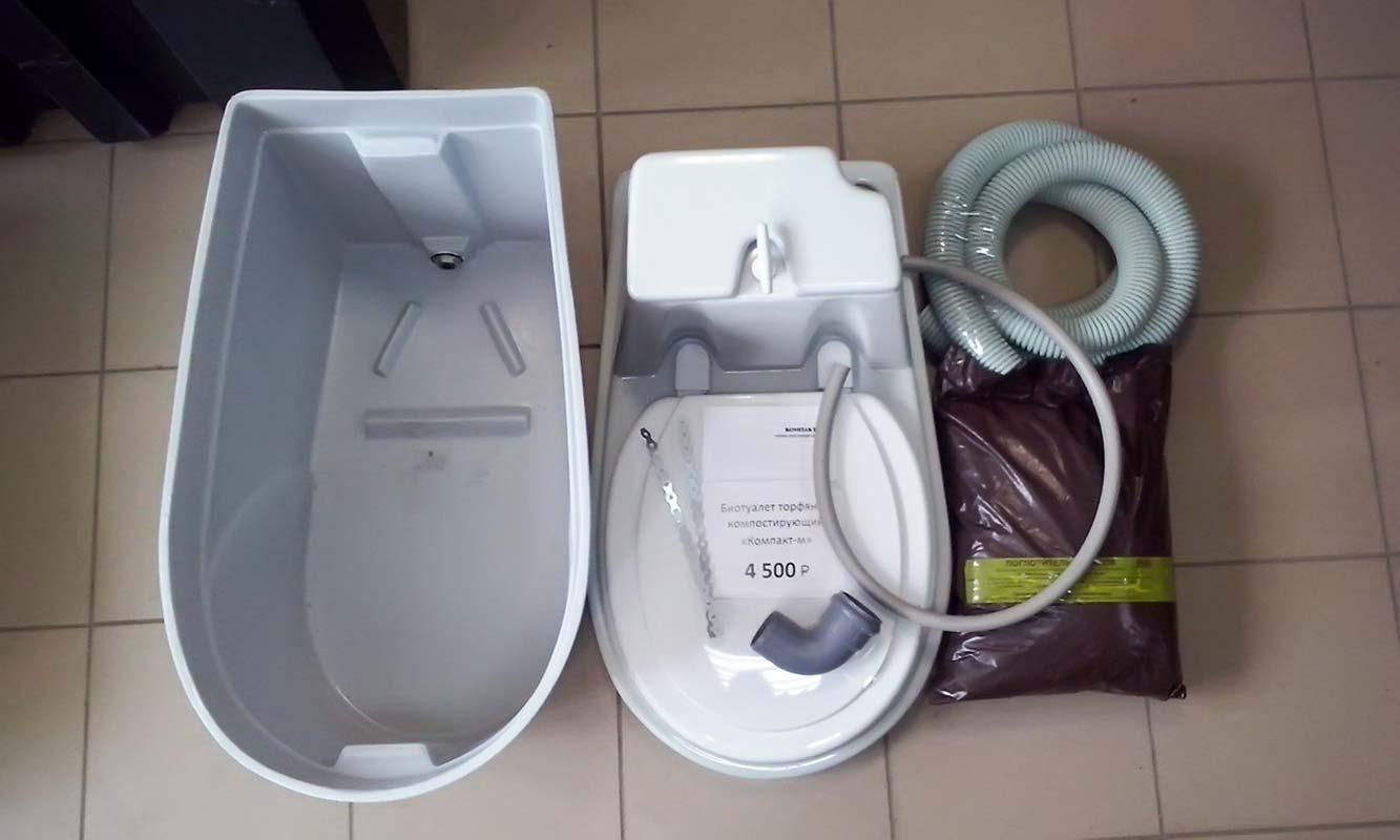 Торфяной туалет для дачи из чего состоит, строение