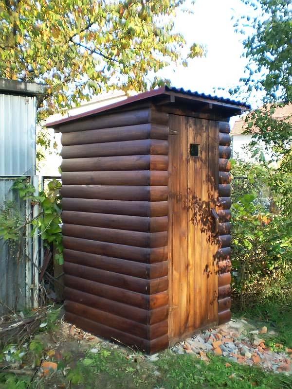 Дачный туалет из бруса по чертежам