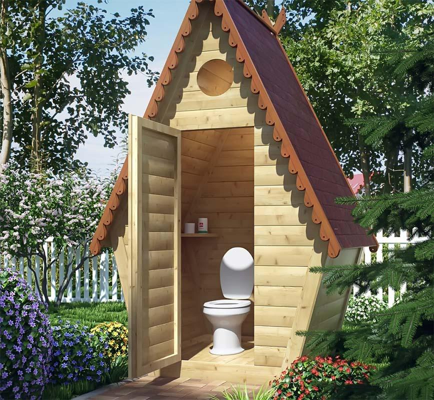 Дачный туалет с унитазом вместо ямы