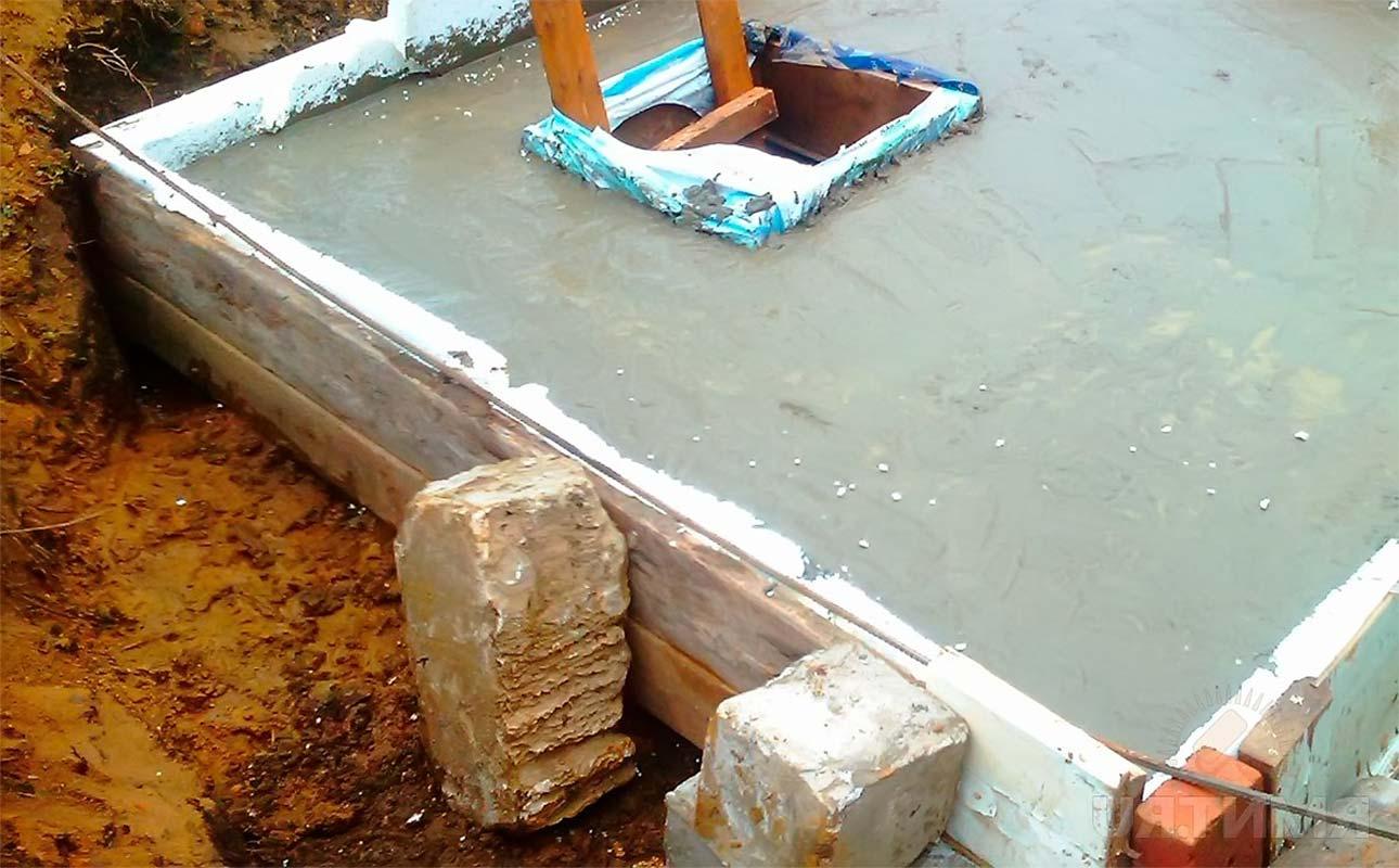 Яма для дачного туалета бетонирование опалубки