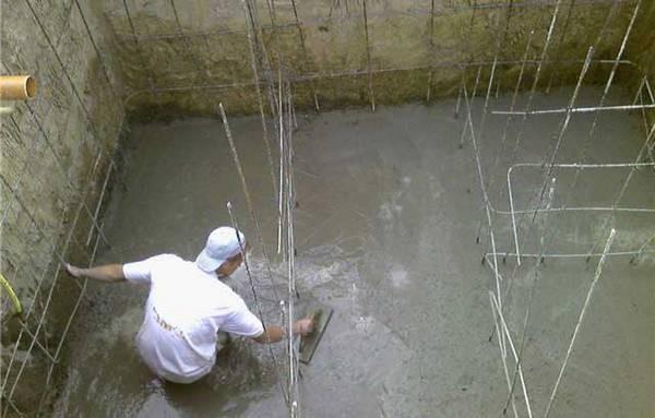 заливка септика бетоном